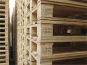 Wooden Pallets with IPPC Logo